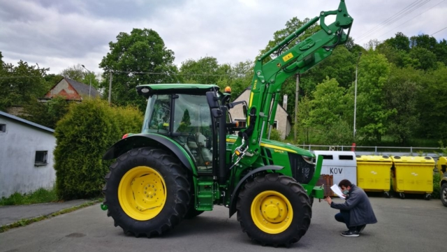 Grafika-Traktor John Deere